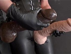 slave gets monster strap ons