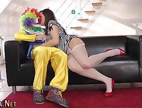 Stockings ho clown fucked