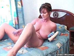 British grannies Joy and Becky love to bang hard style anal play