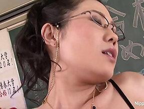 Japanese Teacher anally Fucked