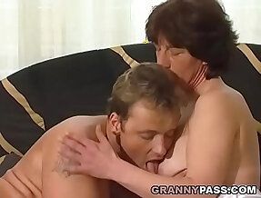 Hairy Granny her pink pussy Pounded