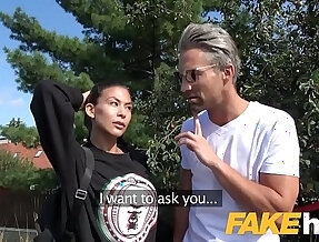 Public Agent Facial and hard sex in public fucking for cheating American babe