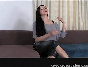 Casting with big natural big tits!