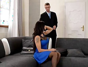 Real estate agent gets dick sucked and fucked by wife for discount