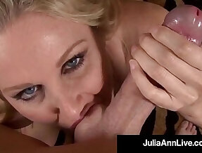 Dirty milf julia ann sucks and fucks hard long cock pov