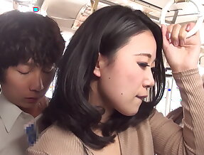 Dressed in a black pantyhose ol fucked in a crowded bus