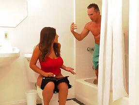 Stealing stepdads towel
